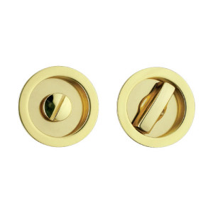 Rozeta rotunda cu buton pentru broasca usi glisante