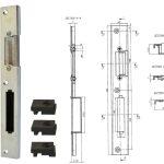 broasca ingropata cu rola pentru usi PVC 16mm 2